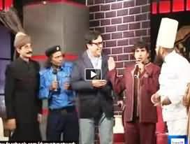 Mazaaq Raat Team (Sakhawat Naaz, Iftikhar Thakur, Amanullah) Making Fun of Sohail Ahmad (Azizi)