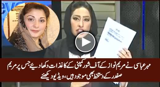 Meher Abbasi Shows Documents Where Maryam Nawaz Declared As Nescol's Sole Owner