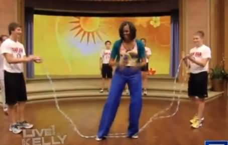 Michelle Obama Slow Dances With Big Bird on Funny or Die Show