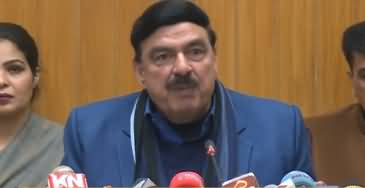 Minister For Railways Sheikh Rasheed Ahmad Press Conference - 15th December 2018