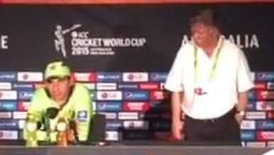 Misbah-ul-Haq Press Conference After Winning Match From Zimbabwe - 1st March 2015