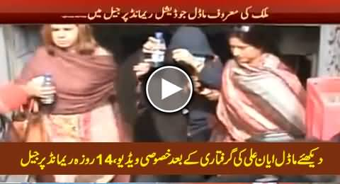 Model Ayan Ali Sent To Jail On 14 Days Remand, Special Video Of Ayyan Ali After Arrest