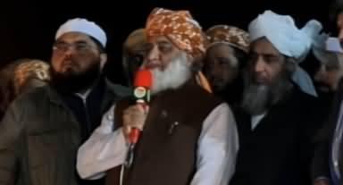 Molvi Fazlur Rehman's Complete Speech In Azadi March Today - 11th November 2019