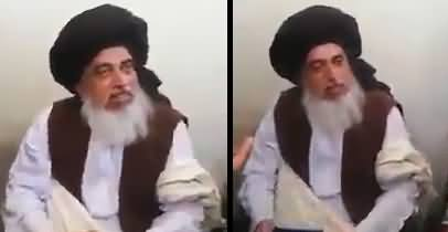 Molvi Khadim Hussain Rizvi Gives Warning To India From Jail