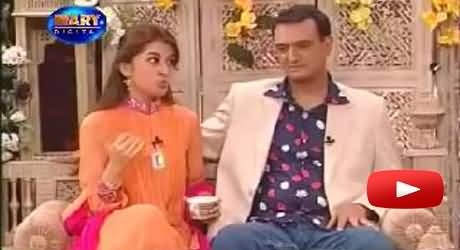 Morning Show Host Dr. Shaista Wahidi with Her Husband in Tv Program