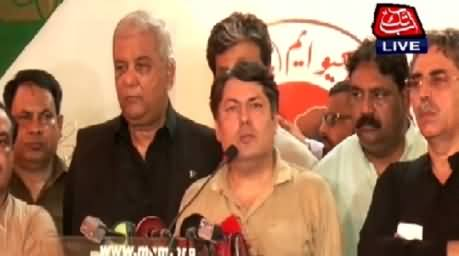 MQM Leaders Press Conference After Rangers Raid At Nine Zero
