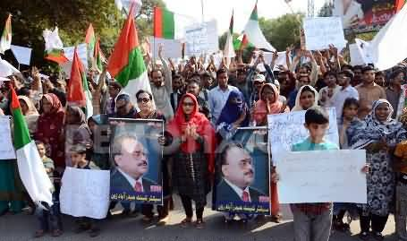 MQM Yesterday Protest Exposed: Forcibly Included the Tourists in the Protest