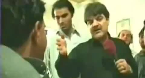 Mubashir Luqman Badly Insults a Policeman Who Was Caught Sleeping During Duty Hours