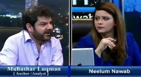 Mubashir Luqman Praising Altaf Hussain & MQM's Discipline in Live Show