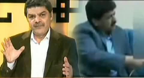Mubashir Luqman Showing A Video Clip of Hamid Mir Maligning Pakistan Army