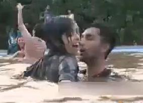 Mud Festival in Lahore - Boys and Girls Dancing and Enjoying in the Mud Pool