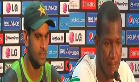 Muhammad Hafeez and Westindies Captain Talking to Media Before Match