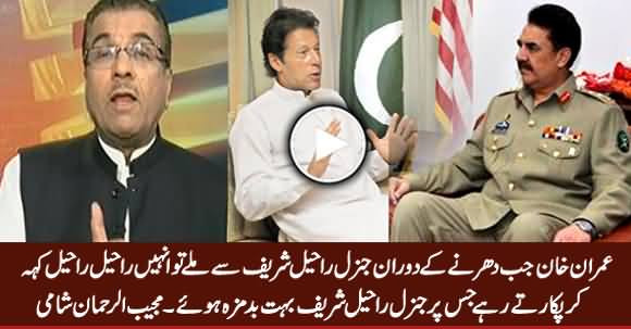 Mujeeb Shami Revealed What Imran Khan Called Gen Raheel When He Met Him During Dharna