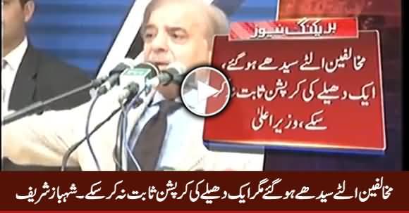 Mukhalifeen Ulte Seedhe Ho Gaye, Magar Aik Penny Ki Corruption Sabit Na Kar Sake - Shahbaz Sharif