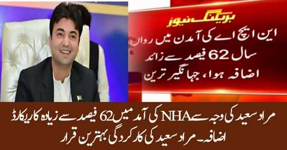 Murad Saeed Excellent Performance In NHA, Added 62 Percent In Revenue