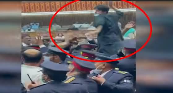 Murad Saeed In Action Against Opposition in National Assembly