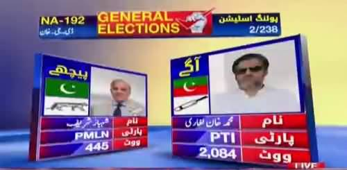 NA-192 DI Khan Shahbaz Sharif PMLN vs Muhammad Khan PTI - Watch Results