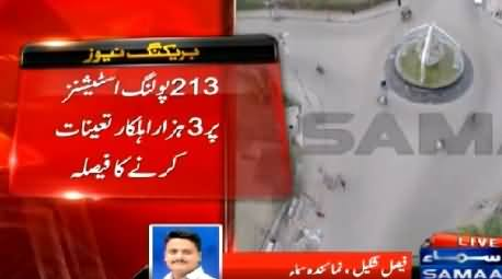 NA-246 By-Elections: Three Thousands Policemen Will Be Deployed on 213 Poling Stations