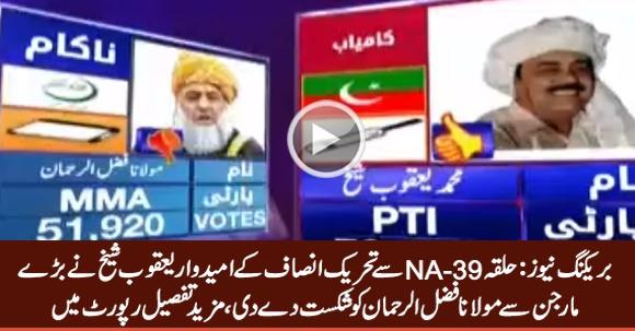 NA-39, PTI Candidate Defeats Maulana Fazal ur Rehman With Huge Margin