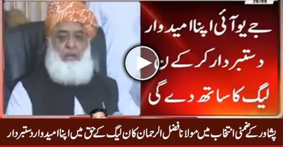 NA-4 By-Poll: Maulana Fazal ur Rehman Agreed to Withdraw His Candidate in Favour of PMN