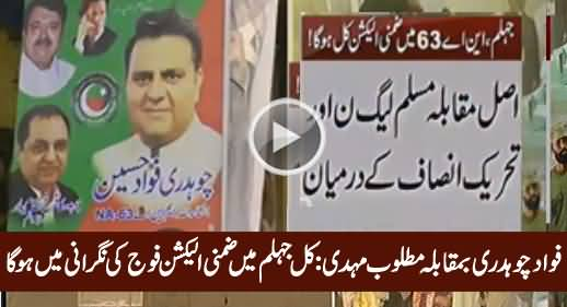 NA-63 Jhelum By-Election to Be Held Under Army Supervision