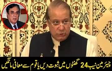 NAB chief should present proof in 24 hours or resign: Nawaz Sharif