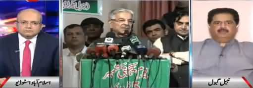 Nadeem Malik Live (Khawaja Asif Ka Faisla Kal Hoga) - 25th April 2018