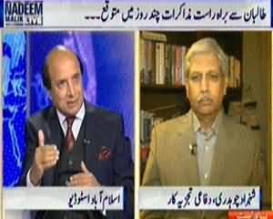 Nadeem Malik Live (Taliban Demands Free Peace Zone for Dialogue) – 24th March 2014