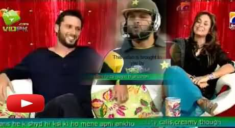 Nadia Khan Asks Funny Question From Shahid Afridi About His Chumma (Kiss) To Jacques Kallis