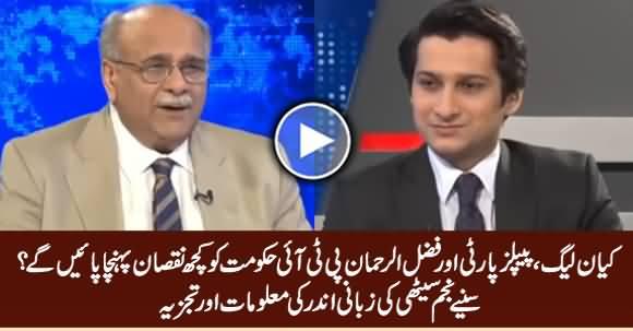 Najam Sethi Analysis on PMLN, PPP, Fazal ur Rehman Movement Against PTI