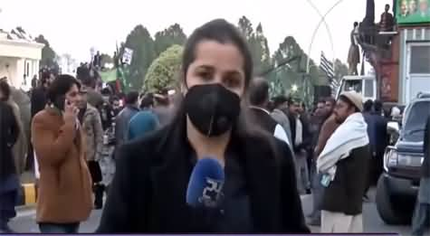 Nasim Zehra @ 8 (PDM Protest Against Election Commission) - 19th January 2021