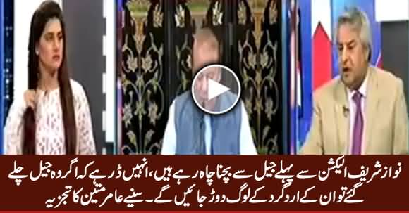 Nawaz Sharif Doesn't Want To Go To Jail Before Election - Amir Mateen Analysis