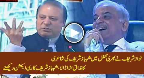 Nawaz Sharif Making Fun of Shahbaz Sharif's Poetry, Watch Shahbaz Sharif's Reaction