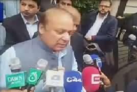 Nawaz Sharif Media Talk Before Leaving For Pakistan – 24th September 2017