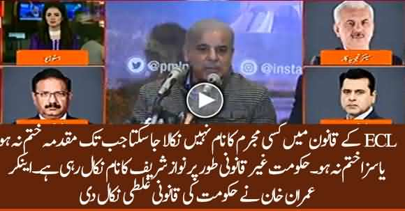 Nawaz Sharif's Name Being Removed Illegally From ECL- Anchor Imran Khan