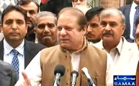 Nawaz Sharif Talking to Media on Dialogue and Other Issues - 3rd February 2014
