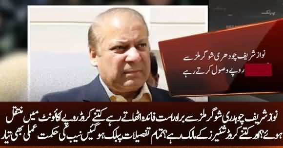 Nawaz Sharif Was Direct Beneficiary From Chauhadry Sugar Mills, Received Million Rupees