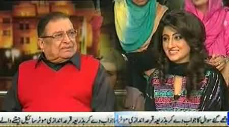 Nazir Naji Flirting with Young Girl of Mazaaqraat in Live Program
