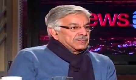 News Eye (Khawaja Asif Exclusive Interview) - 12th January 2015