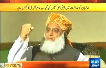 News Eye with Meher Abbasi (Maulana Fazal ur Rehman Exclusive Interview) - 5th September 2013