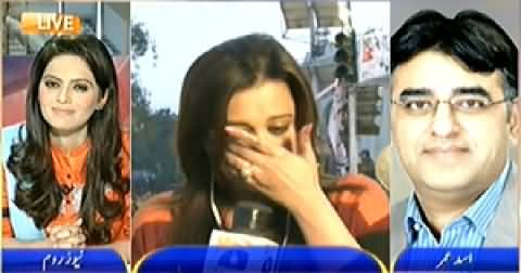News Room (PTI Workers Misbehavior with Geo Reporters) - 15th December 2014