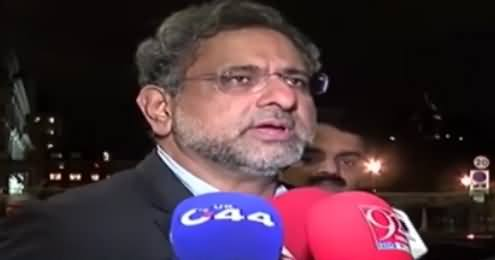 No Minus Nawaz Formula - PM Shahid Khaqan Abbasi Media Talk in London
