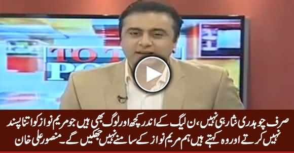 Not Only Chaudhry Nisar But Some Other Persons in PMLN Don't Like Maryam Nawaz - Mansoor Ali Khan