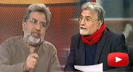 Nusrat Javed Called Ansar Abbasi Papaye Pakistan and Certificate Issuing Authority of Islam