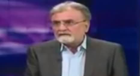 Nusrat Javed Criticizing Aitzaz Ahsan Over Kalbhushan Case in ICJ