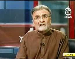 Nusrat Javed Gets Angry on a Question About Maulana Tariq Jameel by a Live Caller