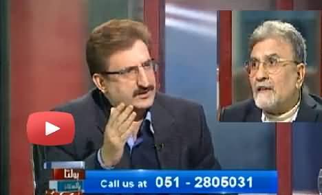 Nusrat Javed gone mad after Imran Khan sacked corrupt QWP ministers of KPK Govt