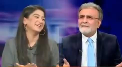 Nusrat Javed Making Fun of Waseem Badami on Reconciling Veena & Asad Issue