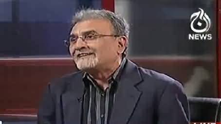 Nusrat Javed Protesting Against the Conviction of 11 Years For Gullu Butt