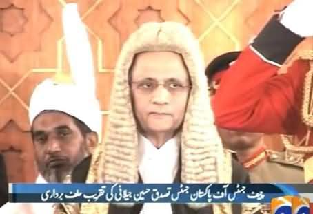 Oath Taking Ceremony of New Chief Justice of Pakistan Justice Tassaduq Hussain Jillani